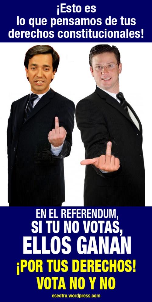 EN EL REFERENDUM, SI TU NO VOTAS, ELLOS GANAN